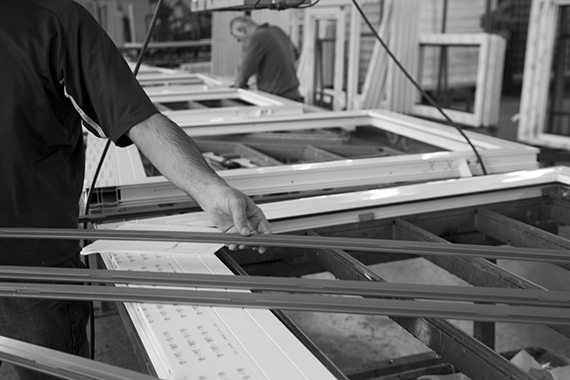 Produktion swisswindows Rahmen